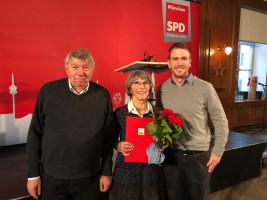 ... auch vom Vorsitzenden des Bezirksausschuss Laim, Josef Mögele, und dem Ortsvereinsvorsitzenden Laim, Carsten Kaufmann