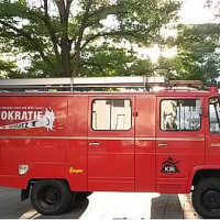 KJR München-Stadt - Demokratiemobil im Einsatz